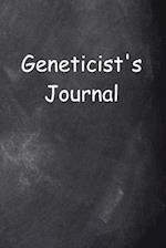 Geneticist's Journal Chalkboard Design