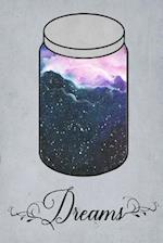 Dream Journal - Blue Watercolour Dream Jar (Grey)