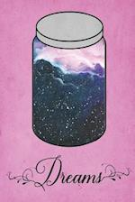 Dream Journal - Blue Watercolour Dream Jar (Pink)
