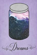 Dream Journal - Blue Watercolour Dream Jar (Purple)