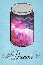 Dream Journal - Pink Watercolor Dream Jar (Turquoise)