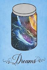 Dream Journal - Rainbow Watercolor Dream Jar (Light Blue)