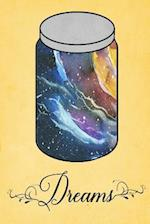 Dream Journal - Rainbow Watercolor Dream Jar (Yellow)