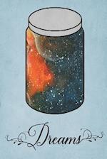 Dream Journal - Orange Watercolor Dream Jar (Blue)
