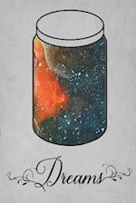 Dream Journal - Orange Watercolor Dream Jar (Grey)