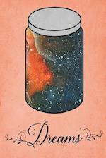 Dream Journal - Orange Watercolor Dream Jar (Orange)