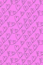 Journal Notebook Scribbly Hearts Pattern 3