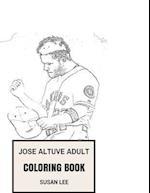 Jose Altuve Adult Coloring Book