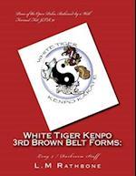 White Tiger Kenpo 3rd Brown Belt Forms