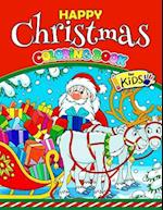 Happy Christmas Coloring Book for Kids