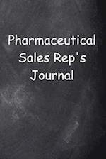 Pharmaceutical Sales Rep's Journal Chalkboard Design