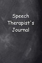 Speech Therapist's Journal Chalkboard Design