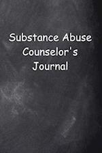 Substance Abuse Counselor's Journal Chalkboard Design