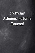 Systems Administrator's Journal Chalkboard Design