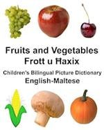 English-Maltese Fruits and Vegetables Children's Bilingual Picture Dictionary