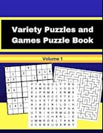 Variety Puzzles and Games Puzzle Book Volume 1