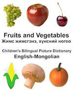 English-Mongolian Fruits and Vegetables Children's Bilingual Picture Dictionary