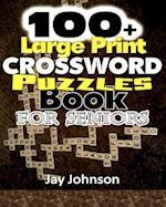100+ Large Print Crossword Puzzle Book for Seniors