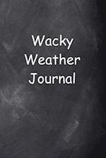 Wacky Weather Journal Chalkboard Design