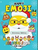Happy Emoji Coloring Book for Girls