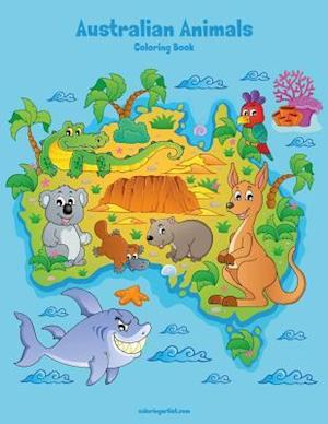 Australian Animals Coloring Book 1