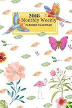 2018 Monthly Weekly Planner Calendar