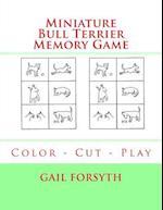 Miniature Bull Terrier Memory Game