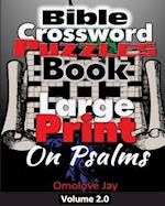 Bible Crossword Puzzles Book Large Print on Psalms
