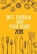 Diet Journal and Food Diary 2018