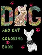 Dog and Cat Coloring Book
