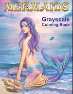 Mermaids Grayscale Coloring Book
