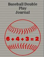 Baseball Double Play Journal, Wide Ruled