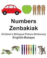 English-Basque Numbers/Zenbakiak Children's Bilingual Picture Dictionary