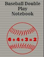 Baseball Double Play Notebook, Wide Ruled