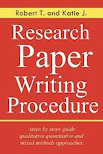 Research Paper Writing Procedure