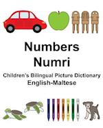 English-Maltese Numbers/Numri Children's Bilingual Picture Dictionary