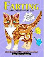 Farting Animals Adult Coloring Book