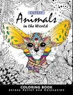 Cutest Animals in the World Coloring Book