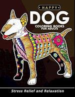 Happy Dog Coloring Books for Adults