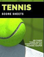 Tennis Score Sheets