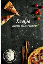 Recipes Journal Book Organizer