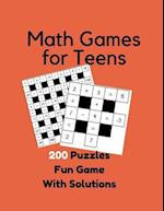 Math Games for Teens 200 Puzzles Fun Game with Solutions