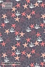 Starfish Lined Journal