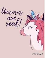 Unicorn Are Real Sketchbook