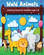 Wold Animals Coloring Book for Toddlers
