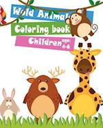 Wold Animals Coloring Book Children Age 4-8