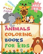 Africa Zoo Fun Farm Age 4-8 Animals Coloring Books for Kids