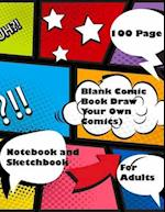 Blank Comic Book Draw Your Own Comics