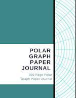 Polar Graph Paper Journal - 300 Page Polar Graph Paper Journal
