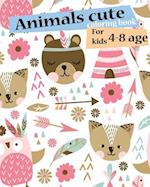 Animals Cute Coloring Book for Kids 4-8 Age